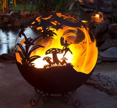 Fairy pit on fire