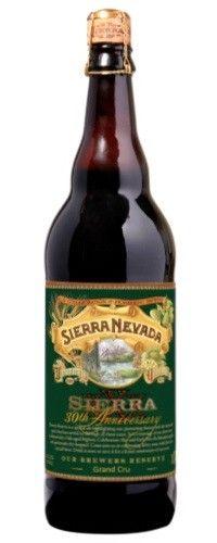 Cerveja Sierra Nevada 30th Anniversary Grand Cru , estilo Wood Aged Beer, produzida por Sierra Nevada Brewing Company, Estados Unidos. 9.2% ABV de álcool.