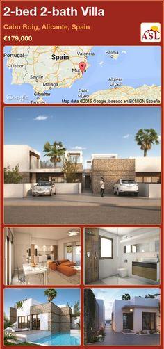 2-bed 2-bath Villa in Cabo Roig, Alicante, Spain ►€179,000 #PropertyForSaleInSpain