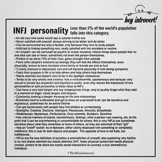 INFJ Personality: Less Than Of The World's Population Falls Into This Category - Trend Hozier Quotes 2019 Infj Traits, Infj Mbti, Istp, Personalidad Infp, Intj Personality, Advocate Personality Type, Personality Descriptions, Personality Psychology, Personality Profile