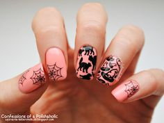 Confessions of a Polishaholic: Halloween with Orly Gel FX Trendy & B. Loves Plates