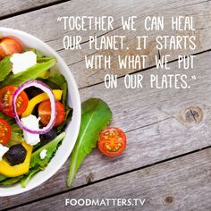 It all starts with what we are putting on our plates. www.hungryforchange.tv #hungryforchange #foodmatters
