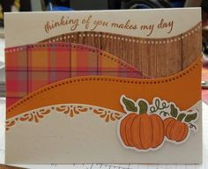 Hand Stamped Cards, Stamping Up Cards, Thanksgiving Cards, Cards For Friends, Fall Cards, Card Sketches, Halloween Cards, Creative Cards, Greeting Cards Handmade