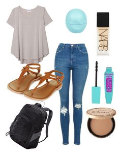 """""""Outfit for school"""" by isabellemorin015 on Polyvore featuring Olive + Oak, Topshop, River Island, NARS Cosmetics, Too Faced Cosmetics and Patagonia"""