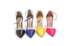 Velcro stiletto heels