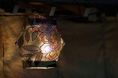 Lantern in summer evening
