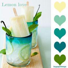 Lemon love color board by happygirldesign http://www.happygirldesign.com