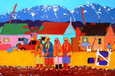 Bingo Ladies by Jim Logan - Contemporary Canadian Native, Inuit & Aboriginal Art - Bearclaw Gallery