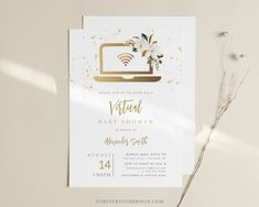 Virtual Baby Shower Invitation Social Distancing Baby Shower | Etsy