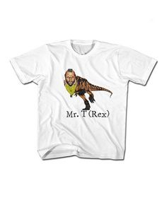 Look what I found on #zulily! White T-Rex Tee - Toddler & Kids #zulilyfinds