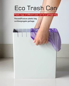 Eco Trash Can Handles All Your Bags at Once