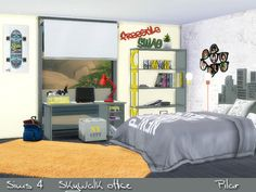 SimControl: SkyWalk Office by Pilar • Sims 4 Downloads