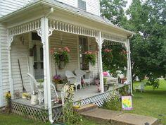 Cozy romantic porch