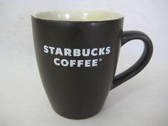 2008 Starbucks Chocolate Brown White Lettering Logo Coffee Mug