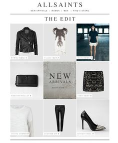 #newsletter All Saints 03.2014 The Edit | New Arrivals