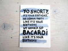 Yo shorty card