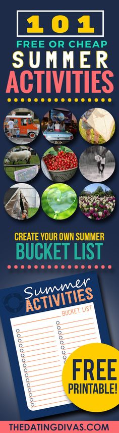 101 Cheap or Free Summer Activities is part of Cheap Summer crafts - Plan your fun summer activities with this list try ideas from food, to family activities, or being adventurous, and as a bonus a bucket list to fill out! Summer Fun For Kids, Free Summer, Summer Activities For Kids, Family Activities, Family Games, Aloe Vera, Diy Spring, Summer Boredom, Summer Bucket Lists