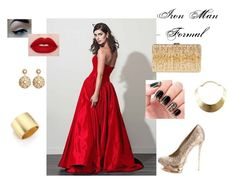 """""""Iron Man - Formal"""" by scarlett-imogen-hughes on Polyvore featuring Fame & Partners, Kenneth Jay Lane, Brooks Brothers, Dsquared2, Gianmarco Lorenzi, GUESS, Avengers, marvel, ironman and Stark"""