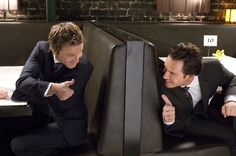 Mark-Paul Gosselaar & Breckin Meyer Messing around during Shooting of Franklin & Bash; the TV Show they are on together and are both Hilarious!!