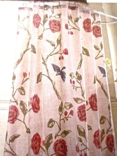 red and tan shower curtain. One Threshold  Blue Bird Red Tan Botanical Birds Floral Fabric Shower Curtain Price is for ONE Target home blue bird shower curtain Basement bathroom