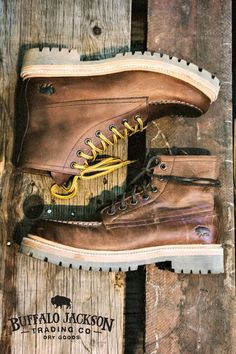 These men's brown leather boots echo vintage winter days. They make the perfect casual outfit paired with jeans and a flannel, or can also be dressed up. Just knock the mud off first. Sock Shoes, Men's Shoes, Shoe Boots, Dress Shoes, Brown Leather Boots, Leather Men, Leather Shoes, Mens Boots Fashion, Boating Outfit