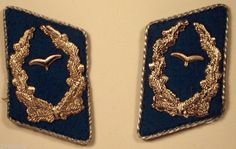 EAST GERMAN GERMANY DDR GDR NVA AIR FORCE FIELD OFFICER COLLAR TABS