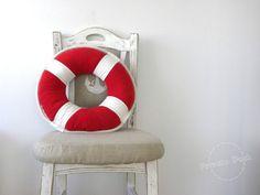 Verkauf-20 % Rettungsring Kissen nautische Kunst von PrivateDock