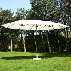 Outsunny 15ft Patio Umbrella Outdoor Sun Shade Canopy Garden Market Beach Cafe #Outsunny