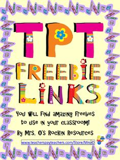 Hundreds of Freebies for Your Classroom!!! - Go to The Best of Teacher Entrepreneurs for this and hundreds of free lessons.   #FreeLesson   #TeachersPayTeachers   #TPT  http://thebestofteacherentrepreneurs.blogspot.com/2012/09/free-misc-lesson-hundreds-of-freebies.html