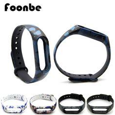 Foonbe用xiaomi miバンド2迷彩交換用xiaomi 2スマートリストバンドシリコンストラップベルト用miband 2ブレスレット