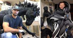 Потрясающие скульптуры из старых шин