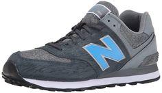 New Balance Men's ML574 Sweatshirt Pack Running Shoe, Dark Grey/Grey, 6.5 D US