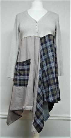L/XL Boho Chic Dress Funky Urban Chic Dress by PrimitiveFringe
