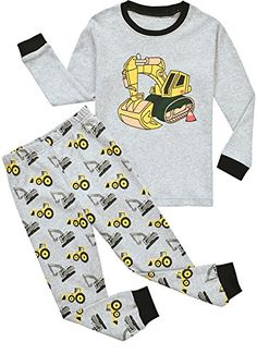 Babypajama Baby Boys Excavator Pajamas Sets 2 Piece Infant Sleepwear Size 1218 Monthes >>> Check out the image by visiting the link.Note:It is affiliate link to Amazon.