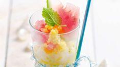 Sorbet brzoskwiniowy z arbuzem. Kuchnia Lidla - Lidl Polska. #lidl #lody #sorbet