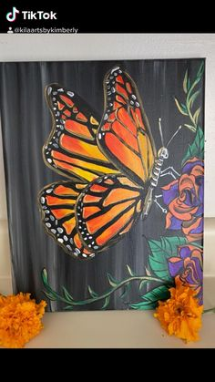 Butterfly Acrylic Painting, Butterfly Art, Butterflies, Neon Birthday Cakes, Illustration Art Dessin, Simple Canvas Paintings, Mini Canvas Art, Love Art, Art Drawings