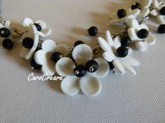 Blütenzauber in Schwarz/Weiß von CaroCreare auf Etsy