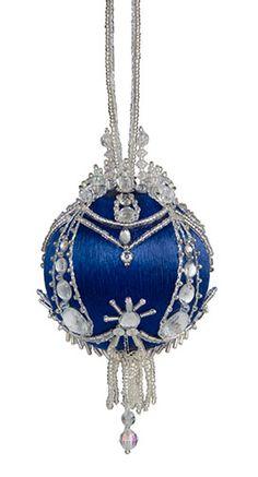 Imperial Crown Cracker Box beaded Christmas ornament kit. Lovely.