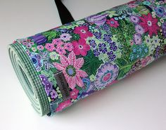 Yoga Bag Pretty Yoga Bag Floral Yoga Bag Womens Yoga by goodmarvin, $28.00
