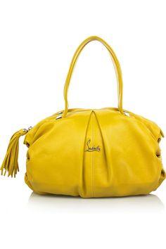Christian Louboutin Yellow Leather Handbag
