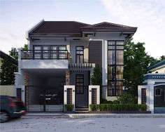 Minimalist Home Style Simple minimalist home modern couch.Minimalist Home Living Room Chairs. Two Storey House Plans, 2 Storey House Design, Small House Design, Modern House Design, Home Modern, Modern House Plans, Modern Country, Modern Homes, Modern Contemporary
