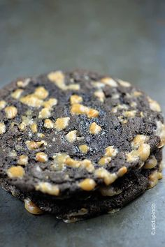 Chocolate Toffee Crunch Cookies Recipe - So delicious with this rich chocolate and buttery toffee! from addapinch.com