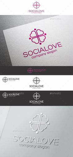 Social Love Hearts Cross Logo – a logo that can be used in social networks, team, groups, web designers, programmers, website and app development, for romantic websites, any candy, souvenir shop or other caring services or business, or anything related to romance, game developers and graphic design, photography studio, is excellent logo template highly suitable for online business, chat software, blog, media, software company or anything related to computer and digital.