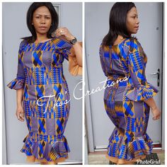 Best African Dresses, African Print Dresses, African Fashion Dresses, Ankara Dress, African Style, Ankara Styles, Fashion Women, Sewing Projects, Short Dresses