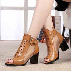 Damen Sandalen mit Absatz Cognac Leder Designer Sandale - http://on-line-kaufen.de/goldnadel-design/damen-sandalen-mit-absatz-cognac-leder-designer