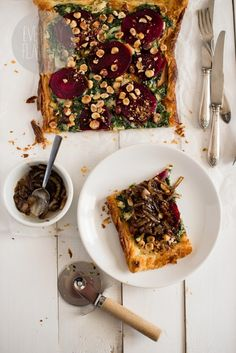 Beetroot, Goat Cheese and Hazelnut Tart | Everyday Flavours