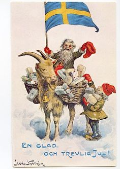Norwegian Christmas, Scandinavian Christmas, Victorian Christmas, Vintage Christmas, Christmas Gnome, Christmas Cards, Merry Christmas And Happy New Year, Christmas Pictures, Vintage Postcards