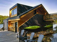 Lake Joseph Boathouse in Canada by Altius Architecture