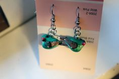 little green bird earrings by popstarscrafts on Etsy, $5.00