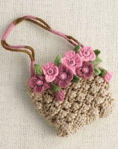 Basket of flowers fridge magnet – Artofit Crochet Coin Purse, Free Crochet Bag, Crochet Purse Patterns, Crochet Pouch, Crochet Purses, Crochet Gifts, Cute Crochet, Crochet Stitches, Crochet Baby
